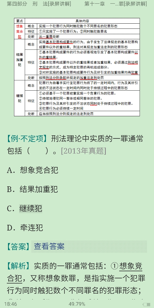2020年同等学力申硕《法学学科综合水平考试》考点手册(录屏讲解)